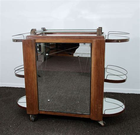 bar cart with doors vintage art deco bar cart with mirrored revolving cabinet 4873