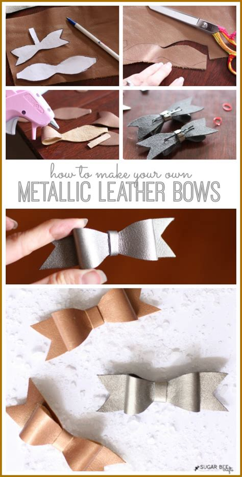 leather bow template metallic leather bows sugar bee crafts