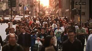 NEW YORK - CIRCA JUNE 2011: Massive Crowd Of Pedestrians ...