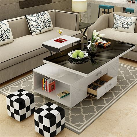 Boost the volume to the max or flip channels with ease. electric multifunction foldable Coffee Table Living Room liftable and lowerable minimalist ...