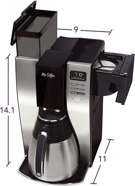 Grab a cup auto pause stops cycle if you need a. Mr. Coffee 10 Cup Coffee Maker   Optimal Brew Thermal ...