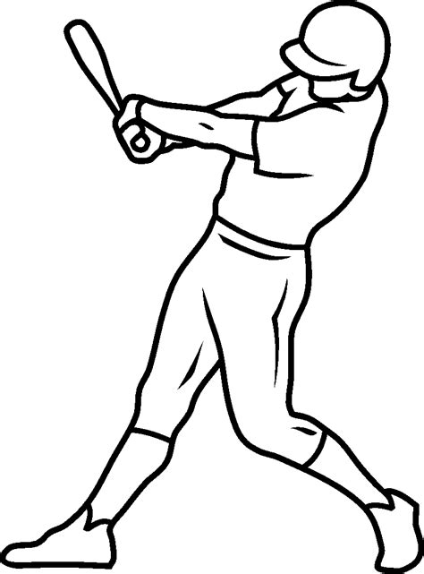 baseball coloring pages suitable