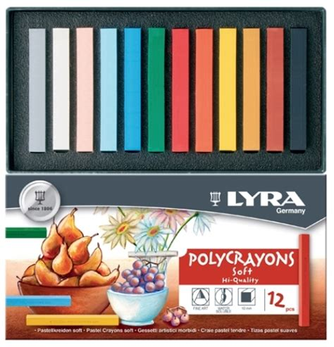 lyra polycrayons assorted colours of 12 learn heaps