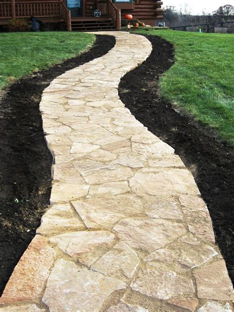 flagstone sidewalks patterned flagstone patio and walkway stone is available from stone center of indiana in