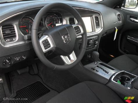 Black Interior 2012 Dodge Charger R/T Photo #58008887