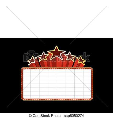 Movie Billboard Clip Art blank  theater  casino marquee  stars isolated 450 x 470 · jpeg
