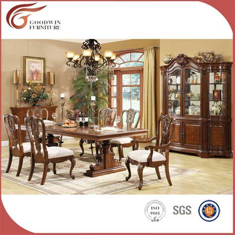 vuelos de madera tallada conjunto mesa de comedor clasico