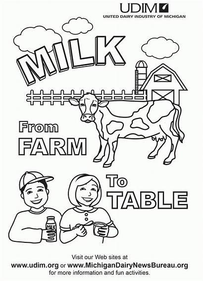 Coloring Dairy Pages Milk Clip Popular Coloringhome