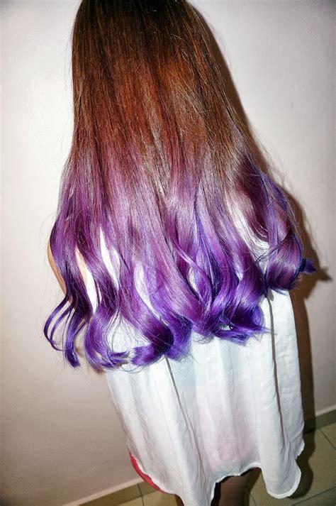 Short Hair Purple Ombre Spefashion