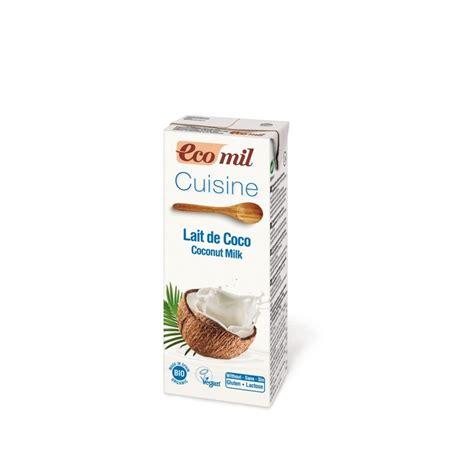 lait de coco cuisine briquette crème cuisine bio lait coco 200ml s gluten ecomil