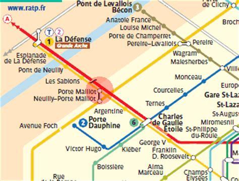 porte maillot station map metro