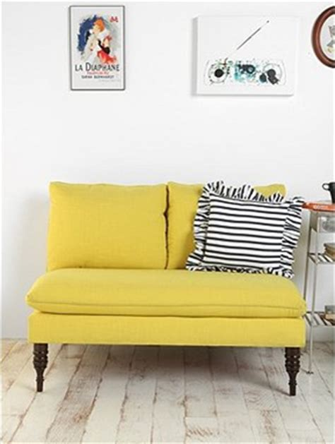 Yellow Settee by Loft Cottage Great Furniture Finds At Outfitters