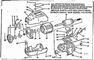 Craftsman 10 113 197752 Parts