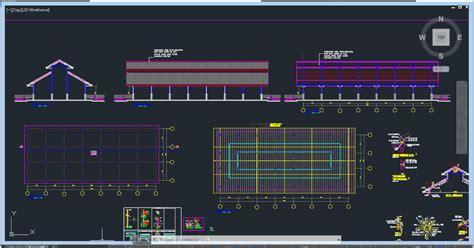 gambar kerja pabrik file autocad dwg