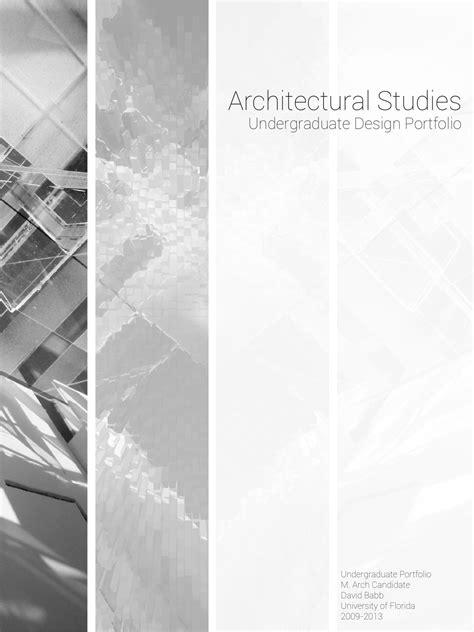 Architectural Undergraduate Studies By David Babb Issuu