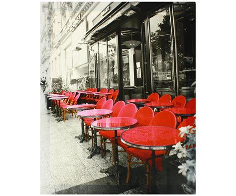 decoration chambre theme londres tableau toile vintage terrasse bistrot café des