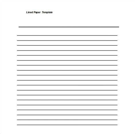 free writing template lined paper template 12 free word excel pdf documents free premium templates