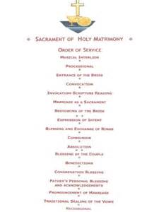 wedding ceremony order order of service