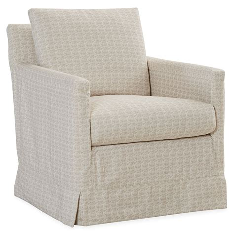kyle slipcover swivel chair luxe home company
