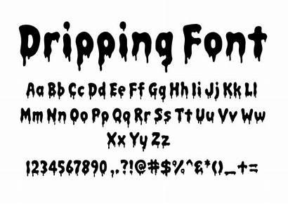 Font Dripping Svg Alphabet Letters Cricut Clipart