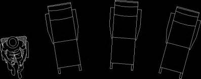 pool chairs in autocad drawing bibliocad