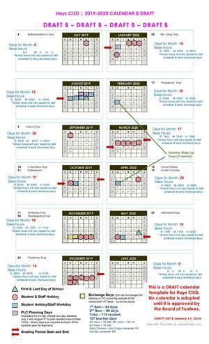 communication office calendar development