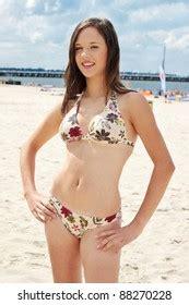 teen bikini beach images stock  vectors