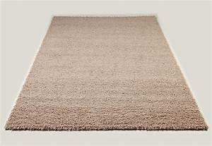 Tapis shaggy beige de salon vasco 2 for Tapis shaggy beige