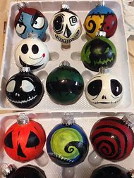 nightmare before christmas diy ornaments