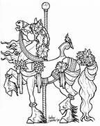 carousel horse Colouri...