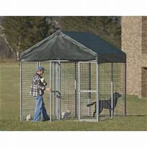 Shelterlogic dog kennel from home depot lowes pets for Dog run fence home depot