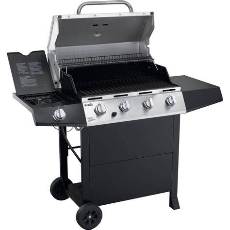 Char Broil 4 Burner Gas Grill BBQ with Side Burner
