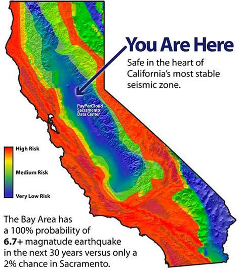 earthquake zone map california