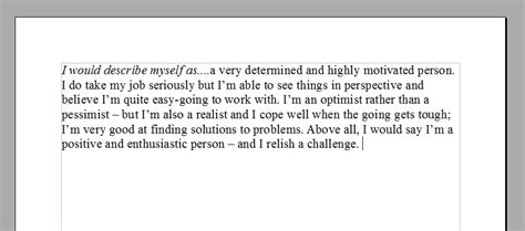 How To Describe Yourself In A Resume Exle by College Essay Exles Describe Yourself