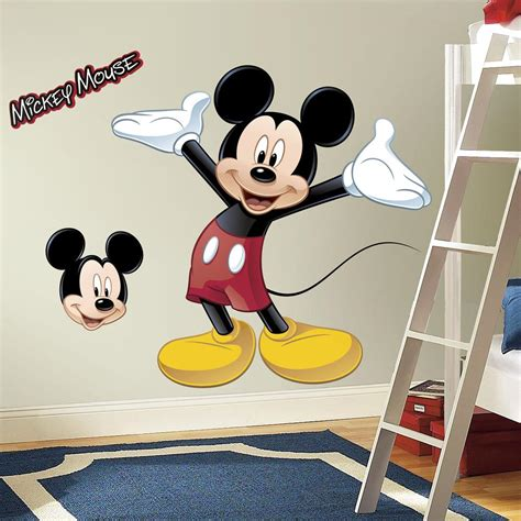 stickers disney chambre bébé amazon com roommates rmk1508gm mickey mouse peel and