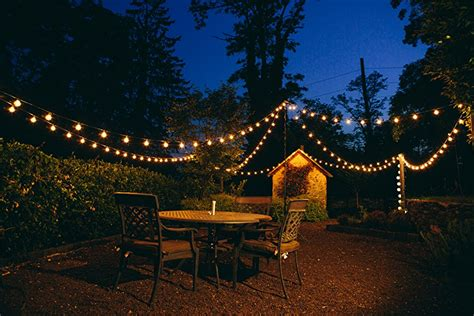 string lights over patio amazon com 100 foot g50 patio globe string lights with 2