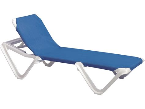 chaise solde grosfillex nautical resin adjustable sling chaise sold in