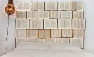Zimmer Deko Diy : coole deko ideen schlafzimmer mit diy kopfteil aus b c bcchern wie kreative wanddeko x wei ~ Eleganceandgraceweddings.com Haus und Dekorationen
