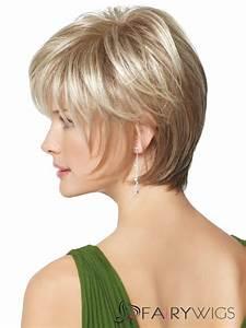 8 Inch White Silver Capless Human Hair Wigs