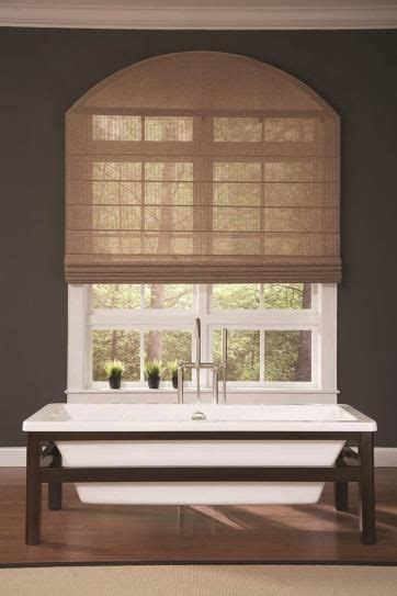 Window Covering Stores by Woven Wood Shade With Specialty Shape Arch Window