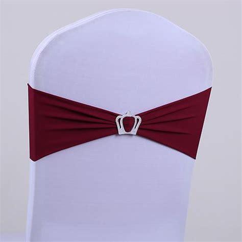 2017 wedding chair covers rhinestone ribbon crown buckle