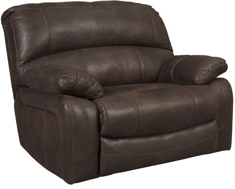 wide seat recliner zavier truffle wide seat power recliner from