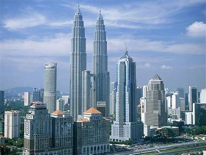 Twin Tower Petronas Famous Towers Places Building