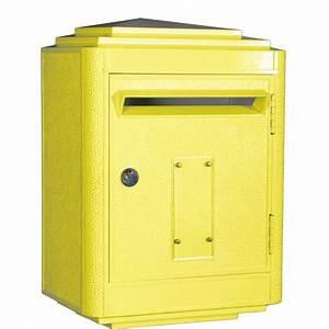 Boite Aux Lettres La Poste : boite aux lettres la poste jaune large rose bunker ~ Melissatoandfro.com Idées de Décoration