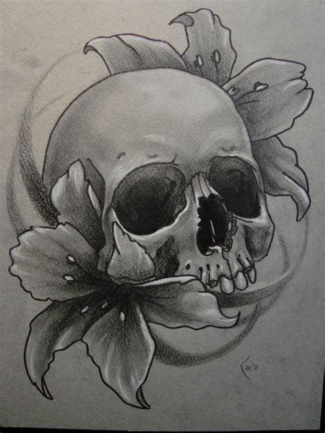 Sketch For Tattoo By *xenija88 On Deviantart Skulls