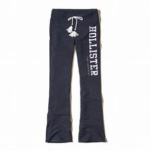 Lyst - Hollister Logo Graphic Flare Sweatpants in Blue