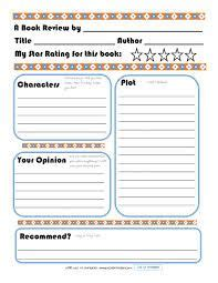 book review template printable google search book