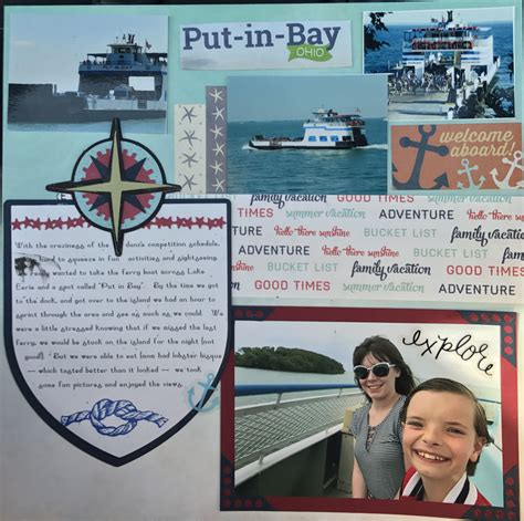 Layout Boats Ohio by Ferry Boat Ohio Put In Bay Scrapbook Layout My