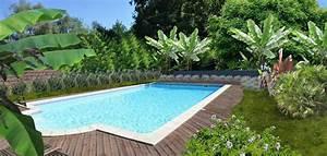 faire un jardin autour dune piscine planter les abords d With amenagement de jardin avec piscine 3 paysage decors creations paysage decors
