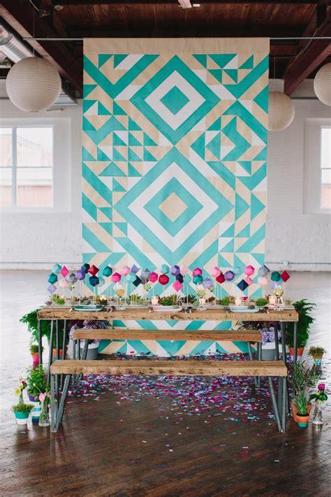 Wedding Backdrop Geometric